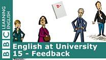 English at University 15 - Feedback