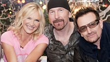 Image for U2 talk to Jo Whiley at Glastonbury 2011