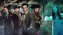 Rory, Captain Avery, The Doctor, Amy, and The Siren