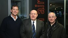 Gary Gillespie, Brian Barwick and Arthur Albiston