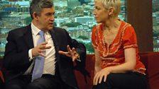 Gordon Brown and Annie Lennox