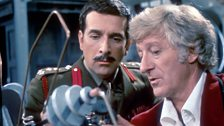 Brigadier Lethbridge-Stewart with the Third Doctor