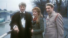 The Doctor, Liz Shaw and the Brigadier