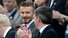 Image for Beckham on Olympic flame handover and Gary Neville's England coaching role