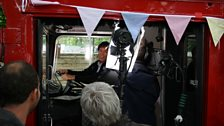 Sir Cliff Richard in the driving seat