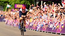 Image for Bradley Wiggins wins gold at the London Olympics