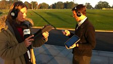 Rachel Burden broadcasts live from the FA's St George's Park
