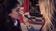 Mandeep Getting Her Makeup Done