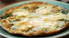 Image for Goats' cheese frittata