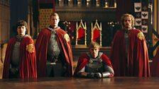 Mordred, Percival, King Arthur Pendragon and Sir Leon