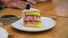 Episode 4 - Desserts - Danny's blackberry, white chocolate, lemon and elderflower torte