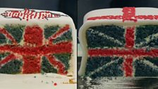 Episode 1 - Cakes - Stuart and Peter's union jack cakes