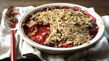 Image for Ruby-red plum and amaretti crumble