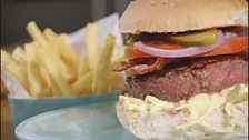 Image for Venison Burger with Celeriac Remoulade & Chips by Valentine Warner