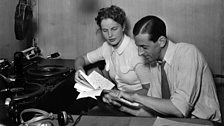 Alistair Cooke and Marianne Helweg, presenters of 'The Day and the Tune', 1938