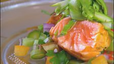 Image for Seared Salmon with Asparagus Salsa by Monica Galetti