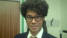 Image for Backstage Buzzcocks: Host Richard Ayoade shows his nerves backstage