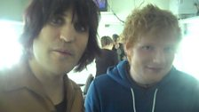 Image for Backstage Buzzcocks: Noel Fielding talks with guest Ed Sheeran backstage about their chances