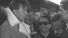 Image for Richard Burton and Elizabeth Taylor in Cardiff for rugby 1965