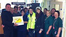 Ciaran & Alex with the nurses at Singleton Hopsital