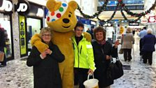 Ciaran & Pudsey in Port Talbot shopping centre
