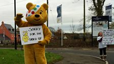Pudsey apologises for the tailbacks!