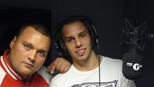 Charlie & Lil Dee after Dee's Fire In The Booth Session