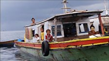 Image for Bajau family living on the ocean