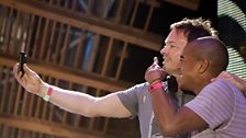 Erick Morillo and Pete Tong at Radio 1's Free Party