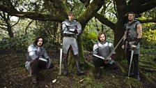 Gwaine, King Arthur Pendragon, Sir Leon and Percival