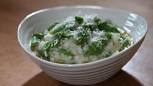Gary's Broad and Runner Bean Risotto
