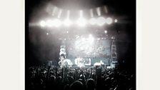 Iron Maiden take to the stage! The crowd go wild!