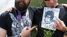 Randy Blyth (Lamb Of God) with his drawing
