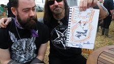 Dez Fafara (DevilDriver) with Dan and his doodle