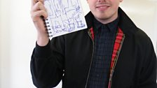 Ben Sansom (Lower Than Atlantis) with his doodle