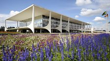 The Brazilian Presidential Palace or Planalto Palace in Brasilia