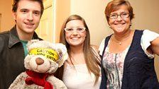 Greg, Ryan Bear, host Lindsay and Mum Ailsa