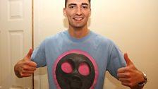 Wallace borrows Greg's t-shirt