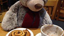 Spot of breakfast for Ryan Bear