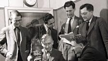 Recording 'Voice' in studio for the BBC Eastern Service
