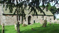 A church in the hills