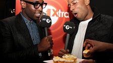 It's been Tinie's year, so Vis offers him cake but who's that stealing one?!