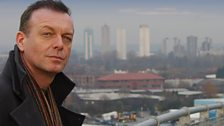 DCI Stone looks over the Salford skyline