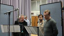 David Fleeshman, Craig Cheetham and Hugo Speer during the record of episode 4