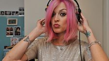 Fearne's new pink hair