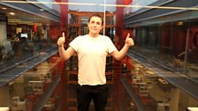 Chris Stark takes the BBC lift in his pants for Comic Relief