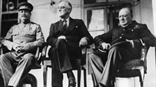 This conference & what appeared to Orwell as its division of the world among Great Powers inspired Nineteen Eighty Four