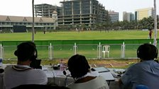 """View from TMS """"Commentary Box"""" at the BKC Ground Mumbai"""
