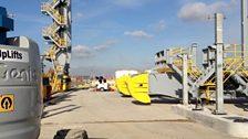 London Gateway:These cranes will move freight around London Gateway.JPG