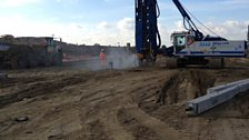 London Gateway Starting to lay the new freight rail infrastructure.JPG